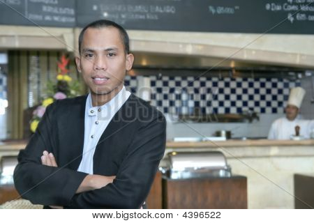 Man In Waiter Uniform