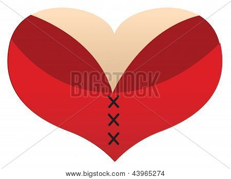 Love Heart boobs
