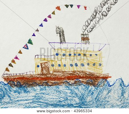 Drawing of a Ship