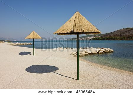 Beautiful Remote Beach Near Trogir In Croatia