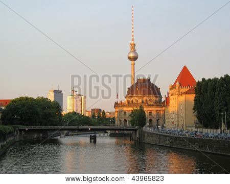 Berlin City View On River Spree