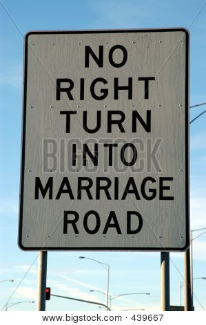 Marriage Street Sign