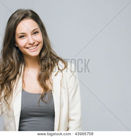 Portrait of a Smiling Young Busnesswoman.