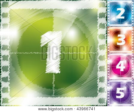 Scribbled Countdown Design From 5 To 1