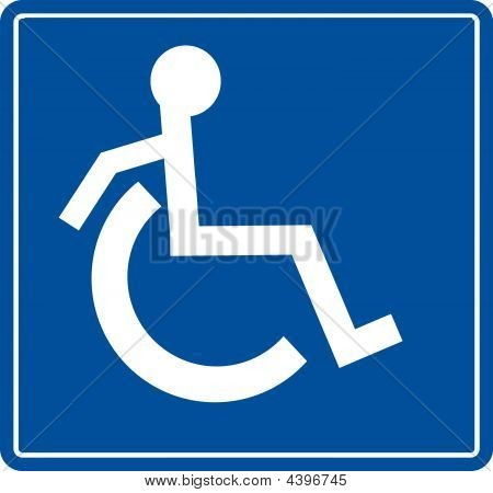 Handicap Symbol On The Move.