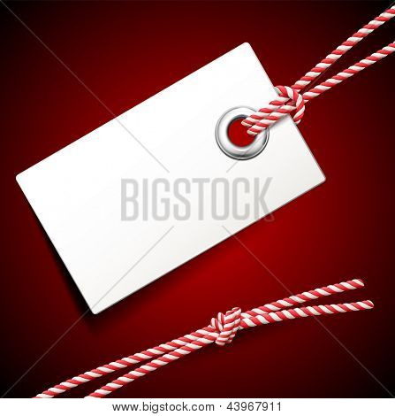 Beautiful vector illustration of empty price tag. Element for design and advertising