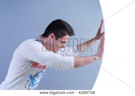Man Pushes Frame