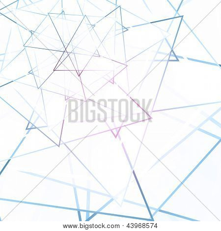 Blue and Pink Light Abstract Triangle Background | EPS10 Vector Design Illustration