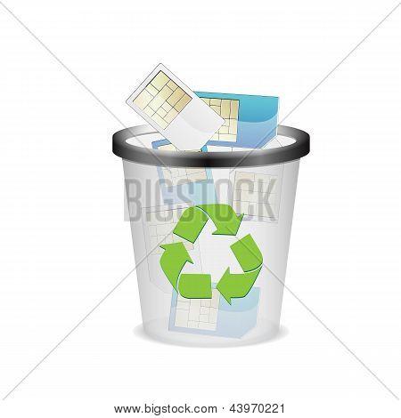 Bin With Sim Card