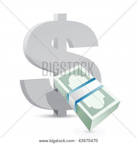 Dollar Currency Bills Exchange Concept