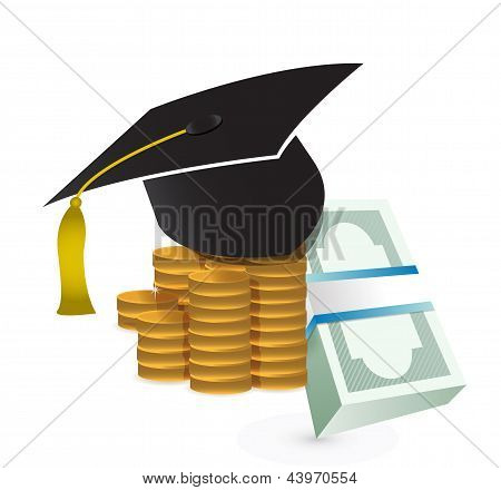 Tuition Fee. Education Costs Concept Illustration