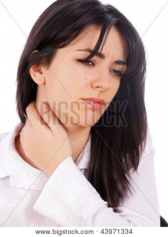 Woman With Neckache