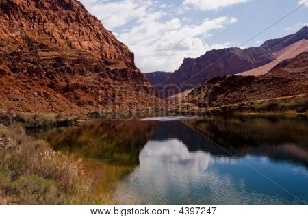Colorado River At Lees Ferry Crossing