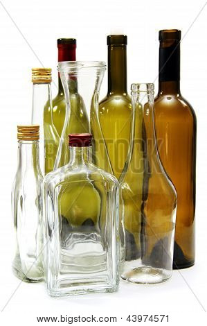 Empty Wine Bottles.