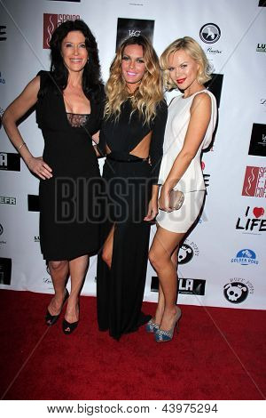LOS ANGELES - APR 2:  Julie Lott Gallo, Jasmine Dustin, Anya Monzikova arrives at  the No Kill L.A. Charity Event at the Fred Segal on April 2, 2013 in West Hollywood, CA