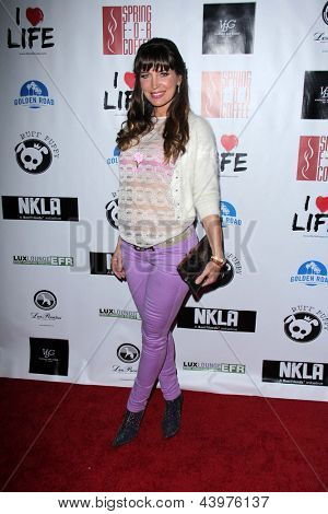 LOS ANGELES - APR 2:  Sandra Vidal arrives at  the No Kill L.A. Charity Event at the Fred Segal on April 2, 2013 in West Hollywood, CA