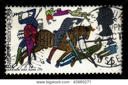 Battle Of Hastings From Bayeux Tapestry