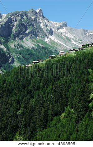 Summer Hamlet In Swiss Alps