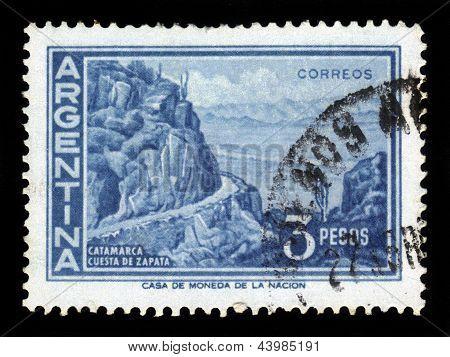 Landscape Of Zapata Slope, Catamarca In Argentina