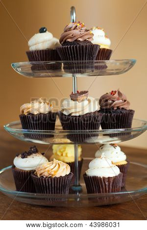 Cupcakes Tiered Tray