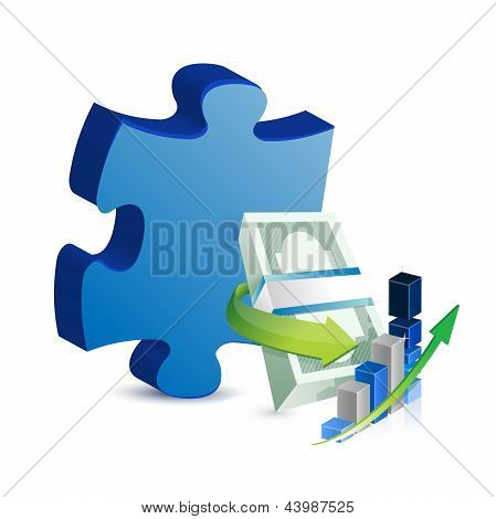 Business Missing Puzzle Piece Concept