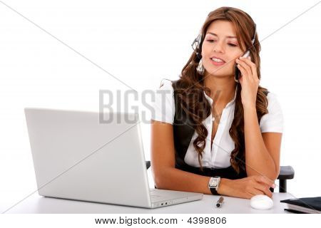 Business Customer Service Woman On A Laptop