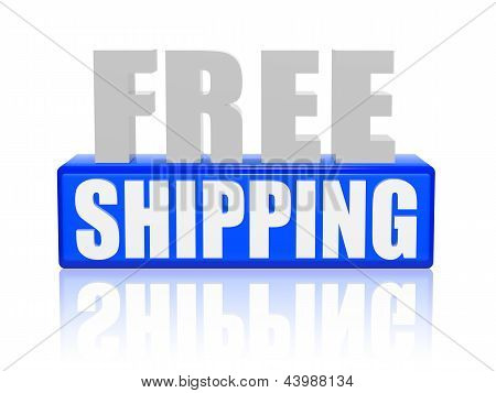Free Shipping In 3D Letters And Block