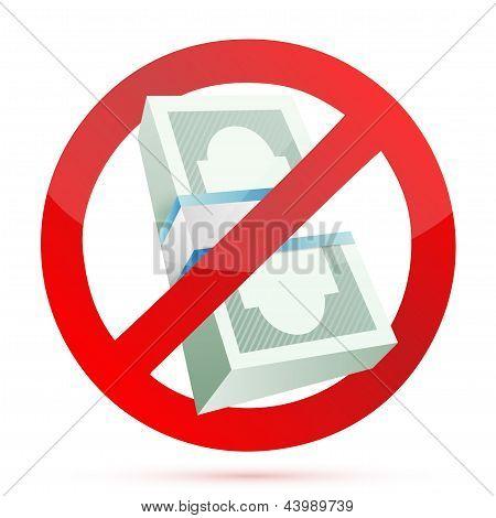 Cash Rejected Concept Illustration