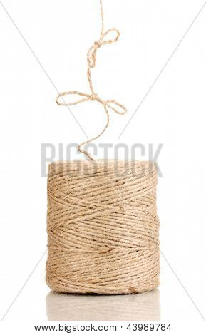 Hank of twine isolated on white