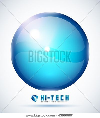 Big sphere abstract modern design template