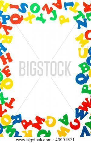 English letters, isolated on white