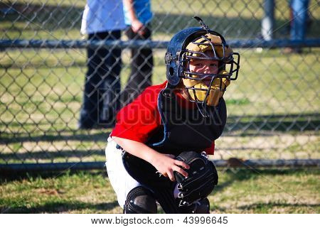Little Baseball Catcher