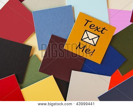 Text Me! Texting Sign For Office, Romance, Business, Customer Service Or PR.