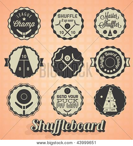 Vector Set: Shuffleboard Labels and Icons