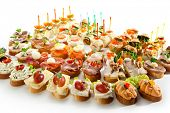 stock photo of canapes  - Canapes - JPG