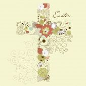 picture of evangelism  - Beautiful cross made from flowers - JPG