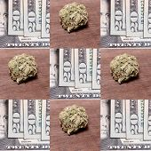 foto of marijuana cigarette  - Drugs and Money - JPG