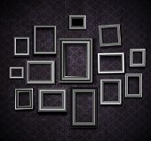 picture of carving  - Picture frame vector - JPG