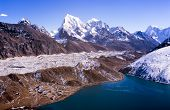 stock photo of chola  - Stunning Gokyo Valley in the Nepalese Himalaya near Mount Everest - JPG