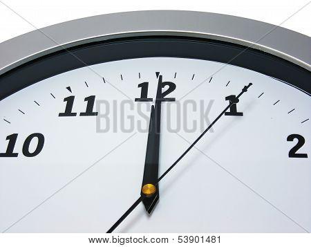 12 o'clock on wall clock