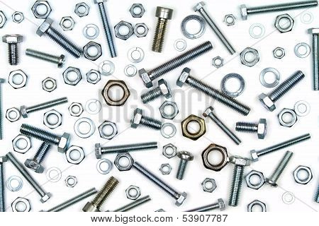 Various bolts, nuts, and washers.