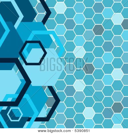 Stylish Blue Banner. Vector Illustration