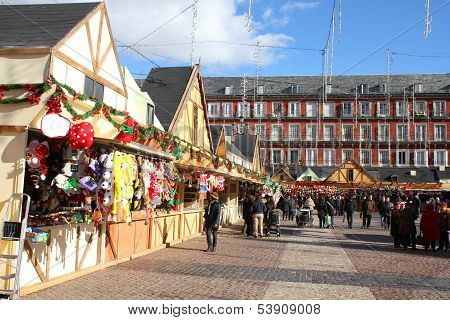Christmas Market In Madrid