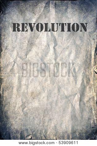 Vintage background, revolution poster