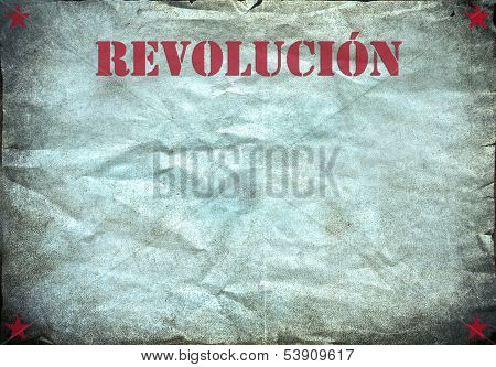 Vintage background, revolucion poster