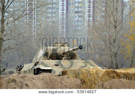 Kiev, Ukraine - November 3: Jagdpanzer 38(t)