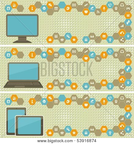 Web Banner With Different Devices