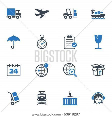 Logistics Icons - Blue Series