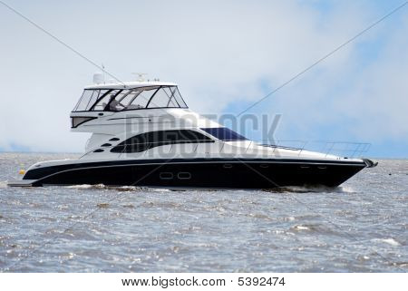 Black And White Yacht