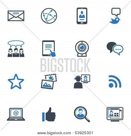 Social Media - Blue Series